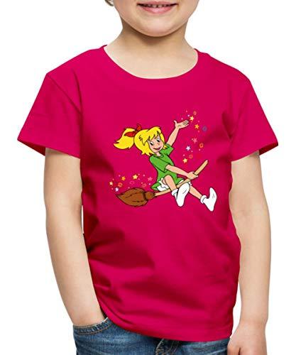 Bibi Blocksberg Fliegt Auf Hexenbesen Durch Die Luft Kinder Premium T-Shirt, 122-128, Dunkles Pink