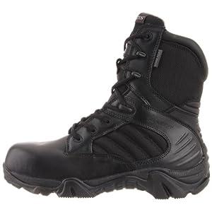 Bates mens Gx-8 Gore-tex Composite Toe Side Zip Work Boot, Black, 9.5 X-Wide US