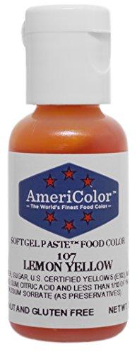 Americolor Soft Gel Paste Food Color75Ounce Lemon Yellow