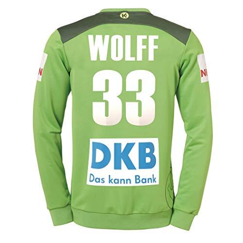 Kempa DHB Torwarttrikot grün Wolff 33 Nationalmannschaft Deutschland Handball WM 2019, Größe:M
