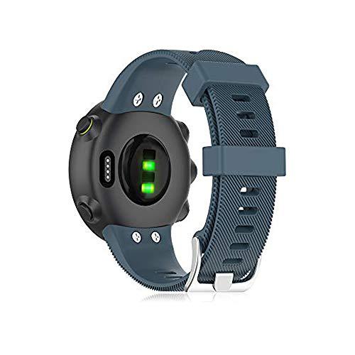 Buwico Armband Kompatibel mit Garmin Forerunner 45 /Forerunner 45S, Ersatz Silikon Uhrenarmbänder Handgelenk Uhrband Sport Uhr Wechselarmbänder für Garmin Forerunner 45S /Forerunner 45 (Cyan)