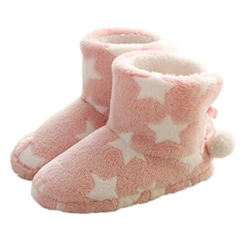 Holibanna Pantuflas para Mujer Botas Pantuflas Cómodas Invierno Pantuflas de Casa Pantuflas Zapatillas para Interior de Felpa para Interiores Y Exteriores