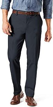 Dockers Men's Straight Fit Signature Lux Cotton Stretch Khaki Pant