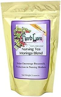 Nursing Tea Moringa Blend - Lactation Tea for Breastfeeding - 60 Cups - Supports Breastmilk Supply Increase - Herbal Breast Milk Supply Supplement - Herb Lore