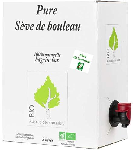 SEVE DE BOULEAU BIO de qualité Limousin bag-in-box 3L (soit 6,65 € le 1/2 L)