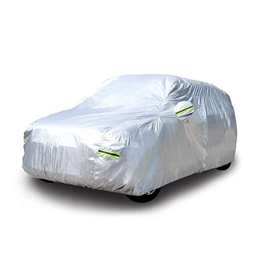 Amazon Basics Bâche automobile argentée résistante aux intempéries Plastique PEVA et coton SUV jusqu'à 470cm