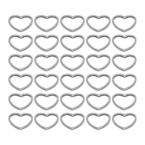 Haowecib Colgantes, Colgantes Huecos en Forma de corazón Fuertes y duraderos para Mujeres para Manualidades de Bricolaje