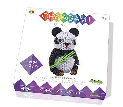 CreativaMente - Creagami Panda - Juego de Creatividad Origami modulares, Multicolor, 734