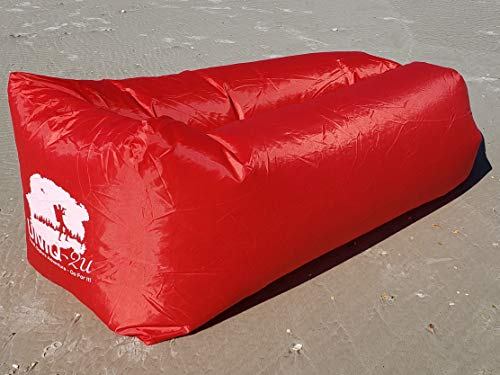 Uniq2U Inflatable Lounger (Red) - Portable,Water Proof & Anti-Air Leaking Design-Ideal for Backyard Lakeside Beach Traveling Camping Picnics & Music Festivals