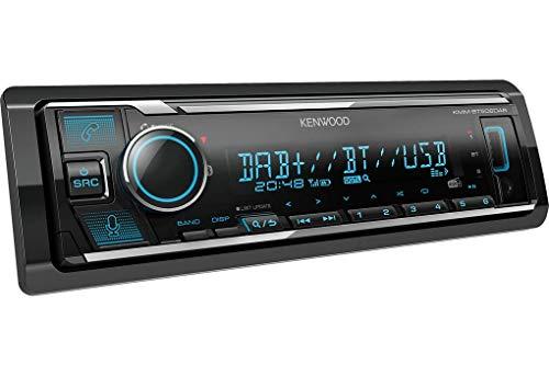 Kenwood KMM-BT506DAB USB-Autoradio mit DAB+ und Bluetooth Freisprecheinrichtung (komp. zu Amazon Alexa, USB, AUX-In, Spotify Control, Soundprozessor, 4 x 50 W, var. Beleuchtung, DAB+ Antenne)