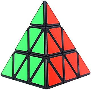 SHUYUE Shengshou 3x3x3 Pyramid Magic Speed Cube Triangle 3D Puzzle Cube Black for Kids and Adults