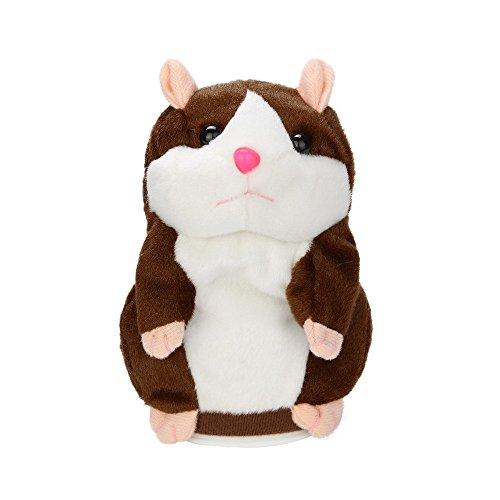 Sprechender Hamster Plüsch Spielzeug Wiederholt was Sie Sagen Mimikry Haustier Elektronische Sprechende Aufzeichnung Stofftier Adorable Interaktives Spielzeug für Baby Kinder hamster Sprechend