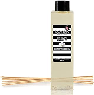 LOVSPA Vanilla Antilles Reed Diffuser Oil Refill with Replacement Reed Sticks | Scent for Kitchen or Bathroom, 4 oz | Made in The USA