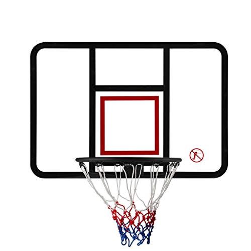LZL Conjunto de aro de Baloncesto de la Cesta estándar para niños - Aro de Baloncesto para Puerta con Accesorios de Baloncesto Completo - para niños niños Adolescentes (Color : Black)