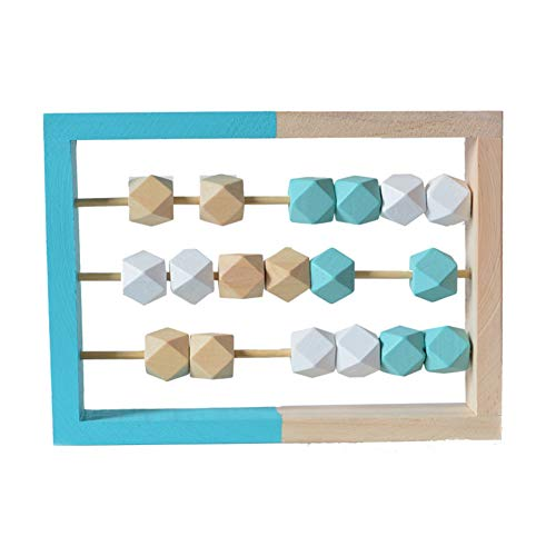 ORETG45 Ábaco juguete de madera, Ábaco juguete de conteo de madera, marco de juegos, juguetes educativos para niños, juego de cuentas para aprender matemáticas juguete divertido