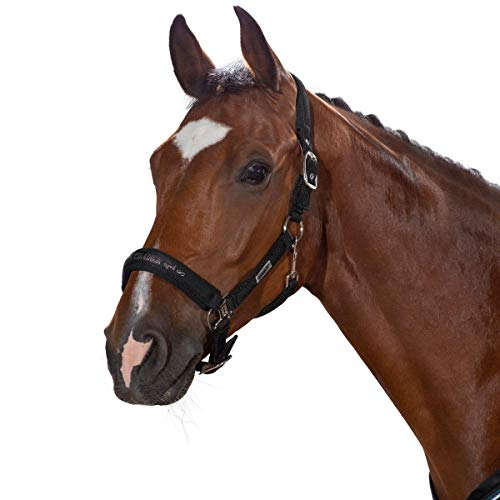 ESKADRON Halfter DOUBLE PIN MESH (Classic Sports HW19), caviar, Warmblut extra groß