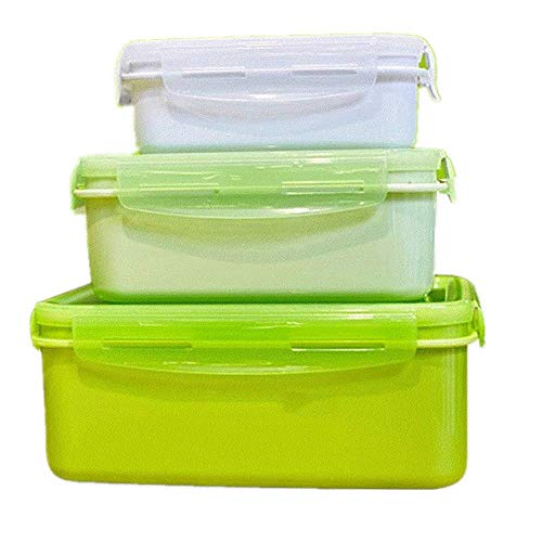 Fiambrera para alimentos, contenedores de almacenamiento con tapas, PLA, perfecto para reuniones familiares y amigos, también como un contenedor de viaje verde
