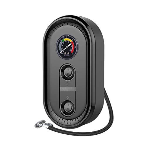 Yijinstyle Geräuscharme Elektrische Luftpumpe Auto Pumpe mit Beleuchteter, Tragbarer Schnell Luftpumpe für Autoreifen, Autoreifen Pumpe (Schwarz#1, Zeigeranzeige)