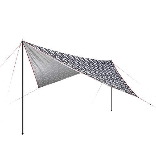 High Peak Sonnensegel 300x300 cm, Sonnenschutz UV 60, Capo 3.0, Wetterschutz Tarp, Universal Camping Plane, leicht, Camouflage Optik