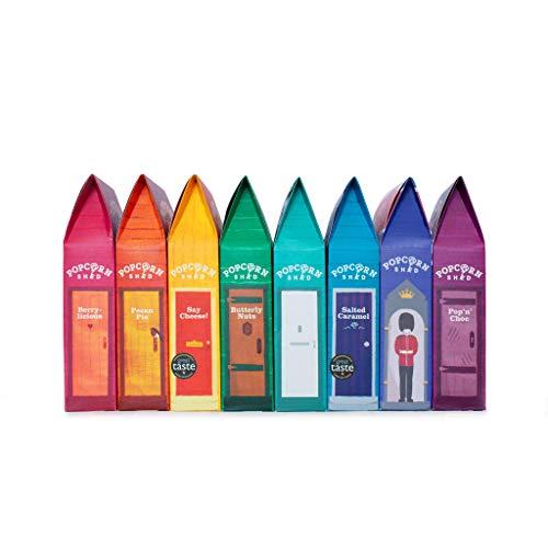 Popcorn Shed 8 Selection Pack - El regalo perfecto de palomitas de maíz - Popcorn Taster Pack | Snacks naturales, sin gluten y vegetarianos