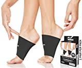 Physix Gear Arch Supports for Plantar Fasciitis - Best Foot Sleeve for Foot Arch Support & Arch Support Brace - Unisex Arch Support Sleeve - Compression Arch Sleeves, Foot Arch Supports BLACK M
