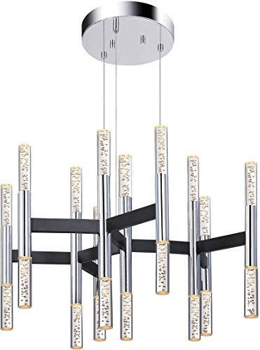 Hot Sale Sonneman 2273.54 - LED Pendant - 20 Light - Black and Polished Chrome Finish - Champagne Sonata Collection