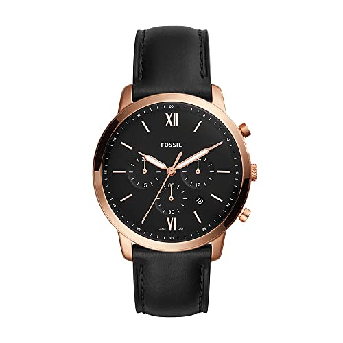 Fossil Men's Quartz Watch chronograph Display and Leather Strap, FS5381