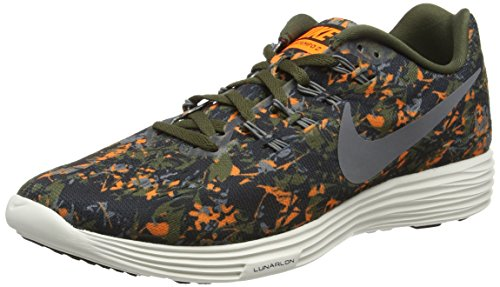 Nike Lunartempo 2 Print, Zapatillas de Running Hombre, Negro (Black/White-Pr Pltnm-WLF Gry), 42