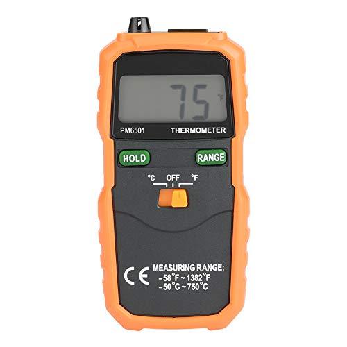 Termómetro digital termopar, PEAKMETER PM6501 Medidor de temperatura con sonda de sensor de termopar tipo K Medidor de Temperatura Industrial