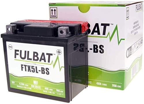 Preisvergleich Produktbild 12V 4Ah Motorrad-Batterie Fulbat - FTX5L-BS MF - YTX5L-BS incl.7, 50 Pfand RE