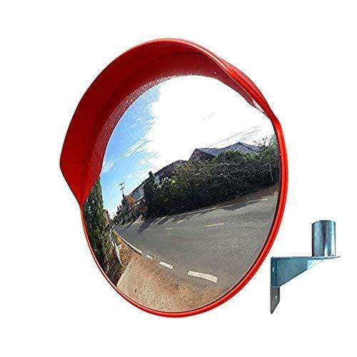 PLLP Obiettivo Grandangolare per Traffico All\'Aperto, Specchio Stradale Traffic, Specchio Sferico Arancione Specchio Curvo Specchio Convesso Supermercato, Specchio Antifurto per Tornitura Stradale,80
