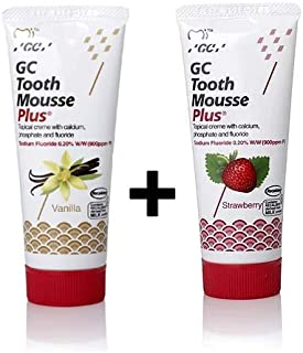 GC Tooth Mousse Plus New Remineralising Sugar Free Dental Topical Creme Strawberry + Vanilla Flavor 3 to 5 Days Fast Delivery By DHL Express
