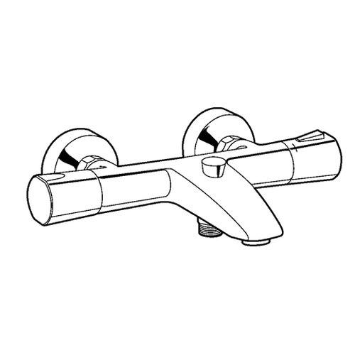 Kludi – Badewannenarmatur mit Thermostat, Chrom - 2