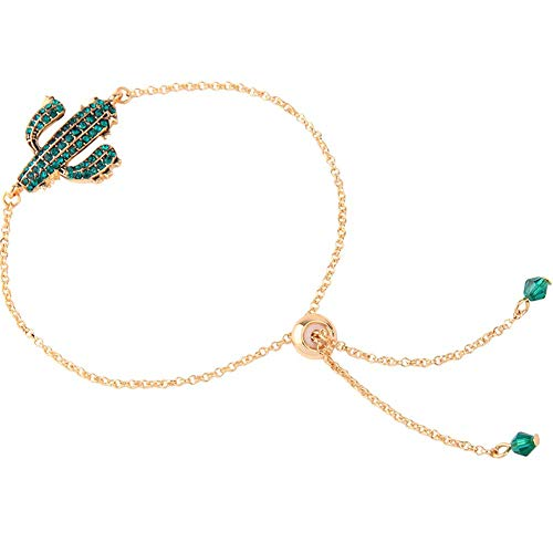 Fliyeong Cute Cactus Diamond Bracelet Girl Girl Heart Fashion Temperament with The Same Jewelry Stylish and Popular