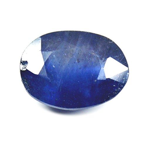 Jewelryonclick Blauer Saphirstein 4 Karat natürlicher Original loser Edelstein