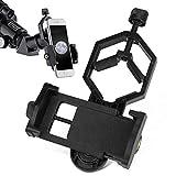 Adaptadores fotográficos para telescopios, prismáticos, telescopio terrestre, microscopio para tomar fotos y videos Traje para iPhone, Samsung, Sony, LG, Huawei