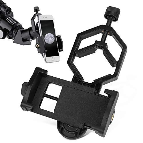 Adattatore Universale Smartphone Cellulare per Telescopio, Cannocchiale, Binocolo, Microscopio per scattare foto e video