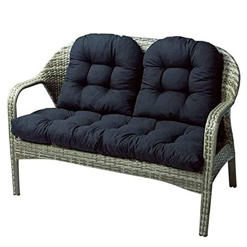 YX-ZD Juego de 3 Cojines para sillón de ratán para Exteriores, cojín para Asiento para Muebles Patio, Cojines para Asiento Mimbre para jardín, para sillón reclinable para Patio Tumbona Banco