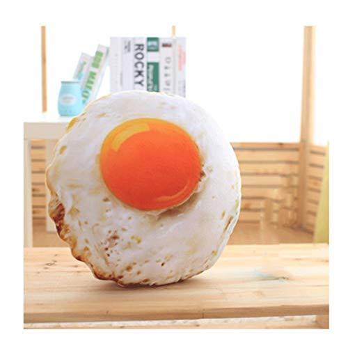 Cojines para Sofa Forma divertida de Alimentos de peluche de juguete simulado huevo frito Abrazo almohada Sofá cama silla Cojín decoración del hogar regalo extraíble y lavable con núcleo de Cojín deco