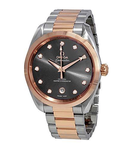 Omega Seamaster Aqua Terra brillante gris diamante Dial 38 mm reloj 220.20.38.20.56.001
