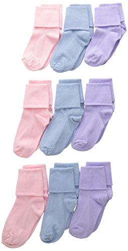 Jefferies Socks Little Girls Turn Cuff Socken (9 Stück) - mehrfarbig - X-Small
