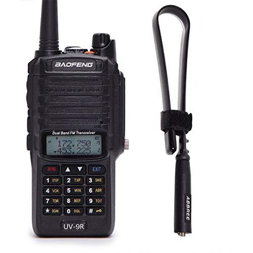 BaoFeng UV-9R 136-174/400-520MHZ VHF/UHF Dual Band Dustproof Waterproof IP67 Transceiver Walkie Talkie Two Way Radio & Tactical Antenna