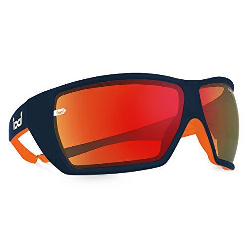 gloryfy unbreakable (G12 KTM Pacemaker) - Unzerbrechliche Sport Sonnenbrille, Sun Glasses Unisex, Sportlich, Rot-Verspiegelte Gläser – Blau/Orange