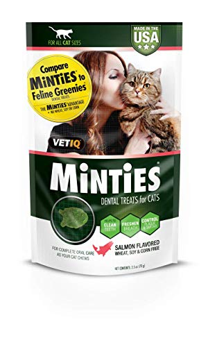 Price comparison product image VetIQ Minties Dental Cat Treats Salmon Flavor 2.5