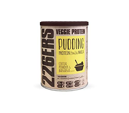 226ERS Evo Vegan Protein Pudding with Pea Protein, Omegas and Maca, Gluten Free, Chocolate & Banana - 350 gr
