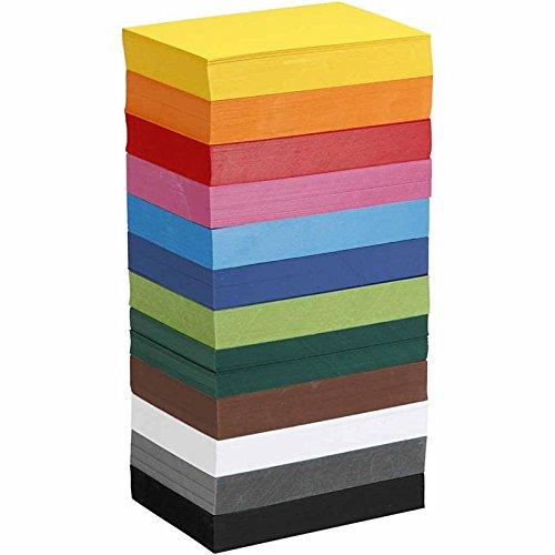 Cartulina de colores, tamaño A6, 10,5 x 15 cm, 180 g, 1200 hojas