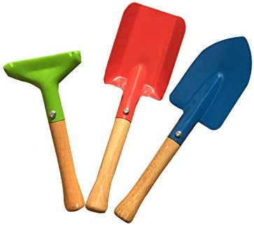 Year-end gift Rylod Price reduction Garden Tools 3-Piece Set for with Ra Kids Gardening