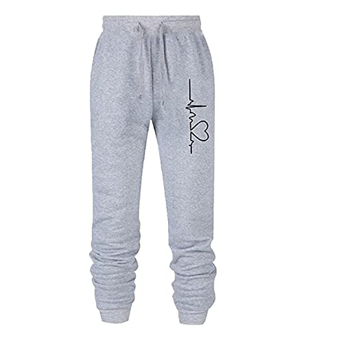 N\P Pantalones de deporte sueltos anchos de las mujeres de los hombres de la cintura elástica pantalones de la impresión de los pantalones