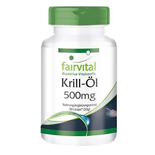 Aceite de Krill 500mg - Dosis elevada - Krill Superba - Rico en Omega 3 EPA y DHA - 90 Cápsulas - Calidad Alemana
