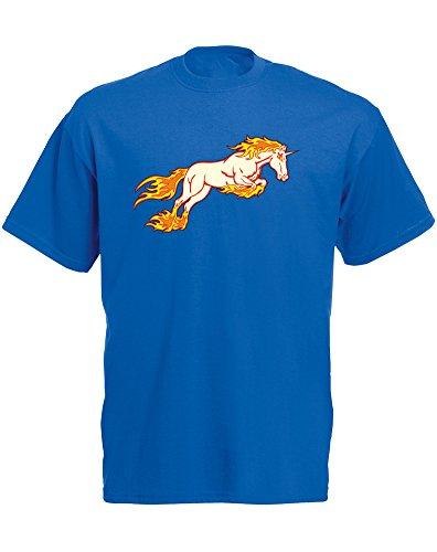 Brand88 Blazing Caballo, para Hombre Impreso Camiseta